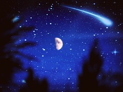 """MOONIE~1"" (uthomie072664) Tags: trees sky moon outdoors nikon flickr michigan space explore planets moonlight macros crators fortgratiot uthomie7264"