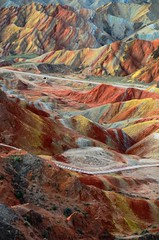 Zhangye Danxia Landform  (Melinda ^..^) Tags: china color nature colorful mel formation melinda gansu  landform  danxia zhangye    chanmelmel danxialandform  zhangyedanxialandform