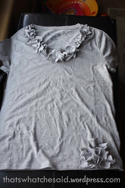 Fun flower t-shirt made from inexpensive clearance shirts