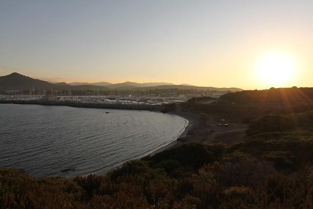 Sun-up at Cala Caterina and the marina near Villasimius