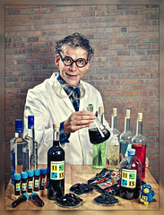 The Chemist ([martin]) Tags: professor liquorice licorice scientist salmiakki wodka liqueur chemist salmiak turkishpepper 11vorne 13hinten geosalmiakki
