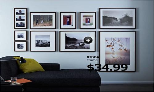 Casa de Christine: Awkward Wall Solution - Ikea Frame Layout Ideas