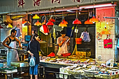 Fishmonger (LPstyle) Tags: pictures china road street trip travel red sea sky fish color building bus look car shop ferry skyline night photoshop asian hongkong lights star bay boat nikon asia mine neon traffic dusk antique south manga terminal tourist busy winner prize arrival van nikkor cantonese departure flikr hdr canton skycraper junc 1424 giunca d7000 flickraward