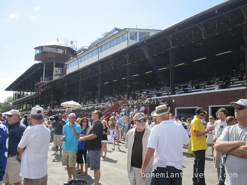 At Saratoga Race Track