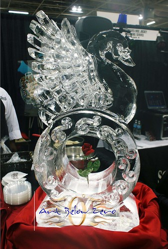 Swan on Ring  ice sculpture