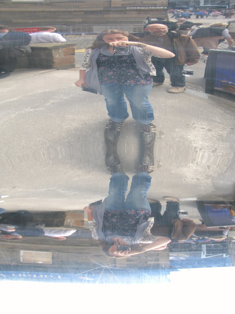 Having a wee bit of fun with mirrors outside Camera Obscura. | Emma Lamb