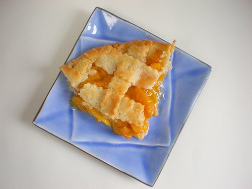 Lattice-top Peach Pie Slice