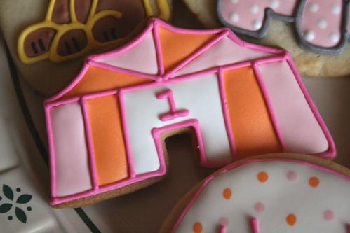 Circus Tent Cookies.