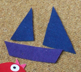 felt pieces for boat