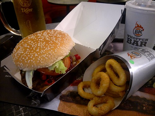 Angry Whopper and Beer