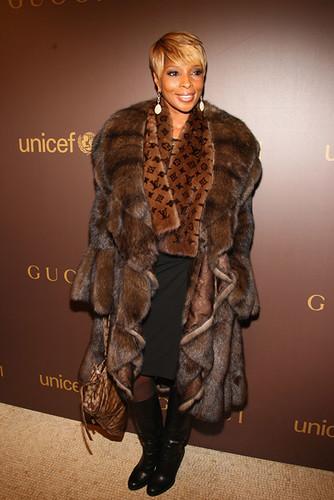c872337138eb Marc Kaufman Furs NY.. Mary J is wearing a fabulous fur Coat