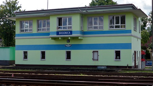Brodnica (wrong) station / signal box(?)