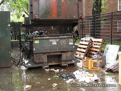 Aftermath of Hurricane Irene in NYC_Avenue D trash