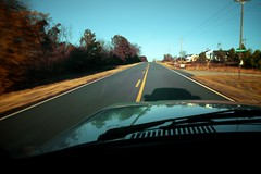 Homeward Bound (MilkaWay) Tags: road winter reflections wagon volvo highway hood openroad asphalt baretrees wiper 240 centerline morgancounty ruralgeorgia