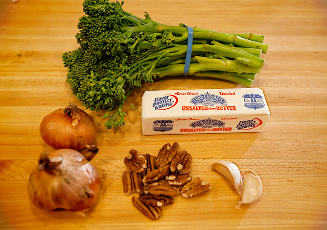 Ingredients for Brown Butter Pecan Broccolini