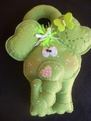 Elefante - Enfeite de maaneta (Fefito Artes by Fabola Almeida) Tags: porta beb quarto enfeitedemaaneta andreamalheiros