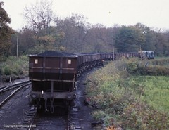 Loaded coal wagons at Cwm Mawr (jon33040) Tags: cwmmawr 08993 08991