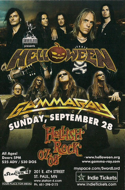 09-28-08 Helloween/Gamma Ray @ Station 4, St. Paul, MN