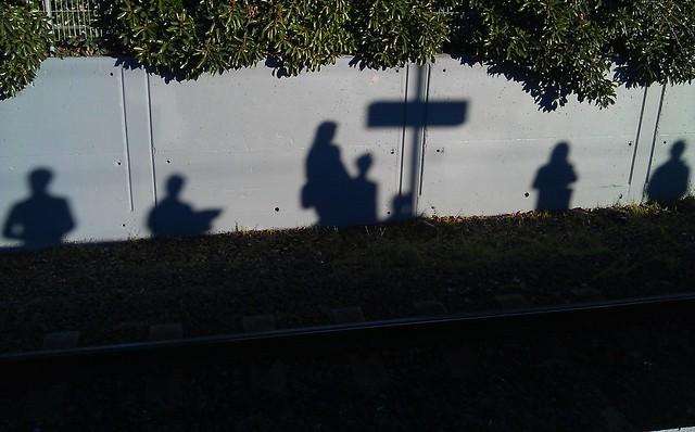 Platform 1 shadows