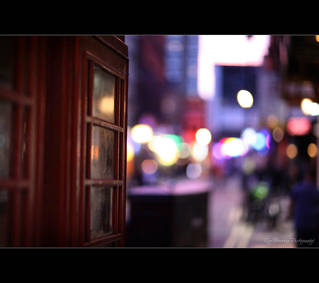 Phone Box Bokeh