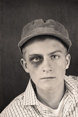 Black eye (~ Maria ~) Tags: boy portrait sad makeup teen fredrik blackeye vintagestyle divasdreamsworkshop