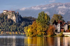 Autumn on the Lake (Atilla2008) Tags: autumn fall postcard scenic slovenia bled jezero islandchurch mygearandme mygearandmepremium mygearandmebronze mygearandmesilver mygearandmegold mygearandmeplatinum mygearandmediamond rememberthatmomentlevel1
