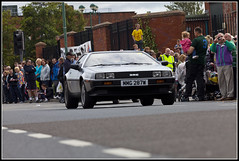 Another Delorean (Dune_UK) Tags: old uk travel england eye art cars sports look saint bike club liverpool vintage de joseph j volvo photo blog different photographer image phil sale sold parade lancashire read photograph frame wife latex jag motor jaguar fest seen circuit coupe dmc glynne pritchard merseyside scouser aintree ormskirk lorean 2011