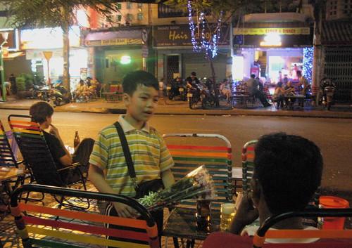 De Tham Street Cafe Scene, Saigon