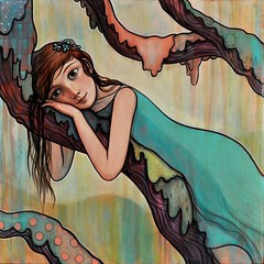 """Soft Moss"" (verpabunny) Tags: original painting acrylic kellyvivanco"