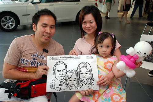 Caricature live sketching for Performance Premium Selection first year anniversary - day 2 - 10