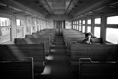 Leaving Yerevan... (Thomas Leuthard) Tags: street portrait woman streets up souls contrast train four photography switzerland high close thomas candid empty streetphotography going best micro third lonely 20mm yerevan 45mm collective collecting streeter inpublic mft unasked eye5 leuthard artlibres thomasleuthard wwwthomasleuthardcom