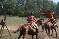 2011aug20_175 (emzepe) Tags: show park horse museum cheval fight ancient memorial hungary fighter village open air national arrow 20 magyar pferd ungarn horseback augusz