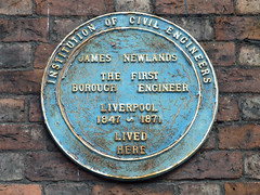 Photo of James Newlands blue plaque
