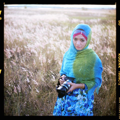 Me In Other Medium I (AquariusVII) Tags: 120 mediumformat kodak hijab medium filem kodak120 yashica24 flowerofislam aquariusvii tjlens