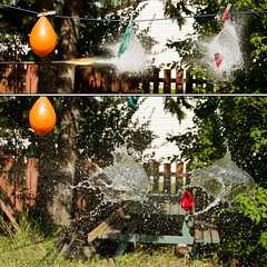 Lucky Orange (gtsomething) Tags: water ball balloon pop arrow archery splash highspeed waterball waterballoon popping highspeedphotography highshutterspeed balloonpop freezephotography explodingballoon poppingballoon gtsomething