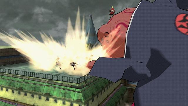 Naruto Shippuden: Ultimate Ninja Impact - Gamabunta left dash