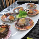 "Scallops at La Mar <a style=""margin-left:10px; font-size:0.8em;"" href=""http://www.flickr.com/photos/14315427@N00/6121646466/"" target=""_blank"">@flickr</a>"