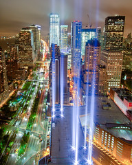 A Preview of the 2011 Tribute in Light (9/11 Memorial) (RBudhu) Tags: nyc newyorkcity ny newyork newjersey worldtradecenter 911 nj september112001 twintowers hudsonriver gothamist neverforget groundzero newyorknewyork batteryparkcity worldfinancialcenter lowermanhattan whotel tributeinlight wfc urbanskyline 7wtc 911memorial downtownmanhattan 7worldtradecenter freedomtower newyorklandmark sevenworldtradecenter threeworldfinancialcenter downtownclub oneworldfinancialcenter twofinancialcenter 123washingtonstreet 9112010