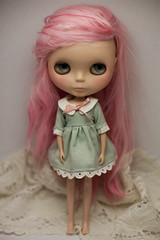 Beautiful (prettyinthekitchen) Tags: alpaca doll dress blythe custom ebl reroot sleepforever