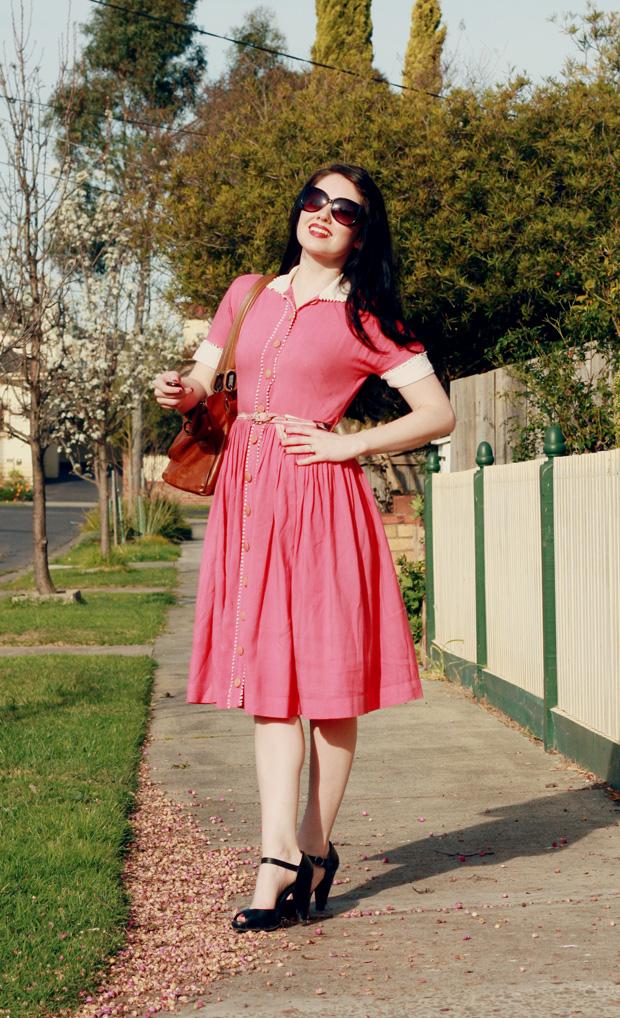 pink pom pom dress c