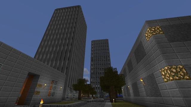Une avenue et les deux tours