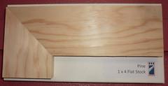 Pine 1x4 Flat Stock