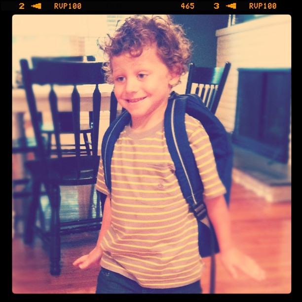 Josh first day of school