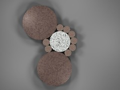 Fibonacci Circle packing (fdecomite) Tags: circle geometry packing fibonacci math povray