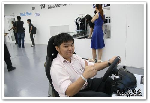 Volkswagen driving simulator