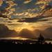 Sunset over Jackson Lake and Mount Moran