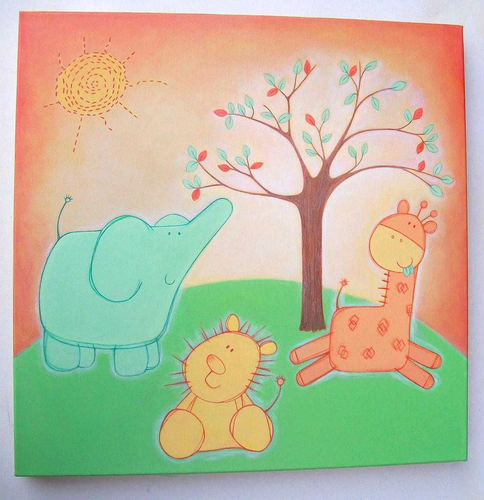 Nursery canvas commission