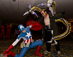 Oc and Cap (wizzer2801) Tags: trip travel atlanta friends america comics fight saturday doctor captain convention octopus marvel dragoncon