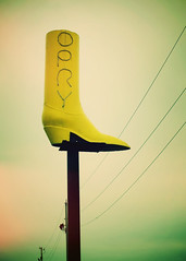 Boot City (SOMETHiNG MONUMENTAL) Tags: yellow canon boot indiana opry roadsideamerica terrehaute g11 bootcity somethingmonumental mandycrandell