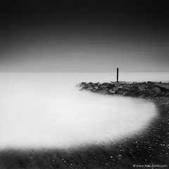 Lost In The Haze (Fakrul J) Tags: seascape monochrome canon blackwhite long exposure shorelines malaysia minimalist hitech kualaselangor density neutral remis canonefs1022mmf3545usm 10stops canoneos500d pantairemis prostop fakruljamil